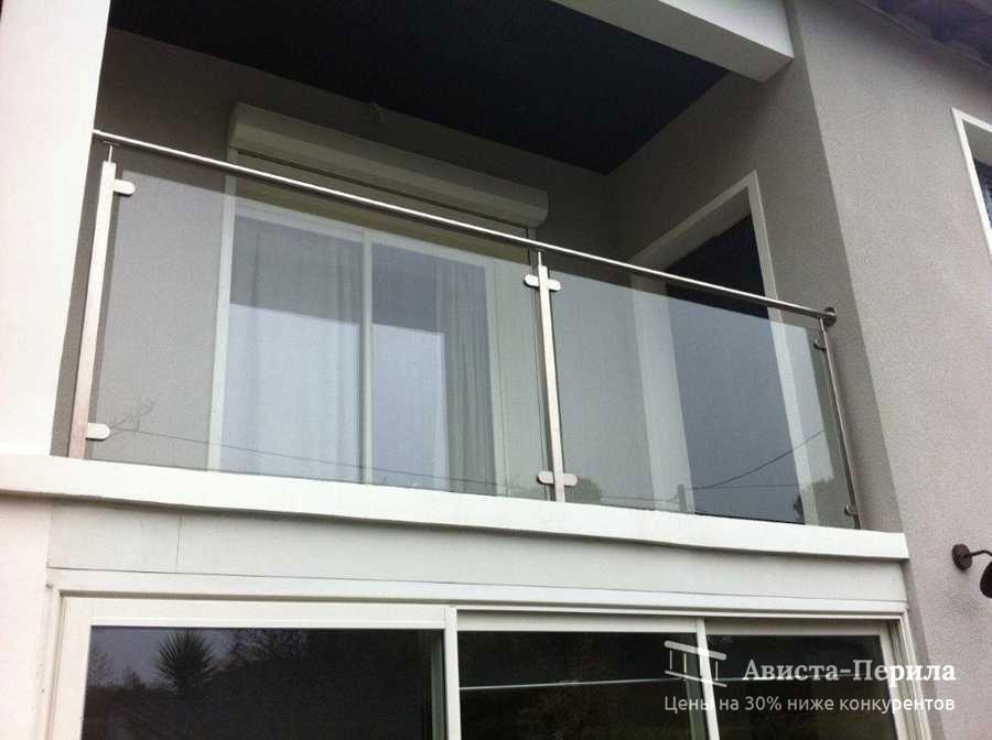 Стеклянные перила и ограждения для балкона из нержавеющей ст.